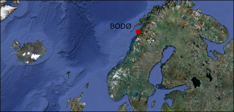 Bodø Norway Map