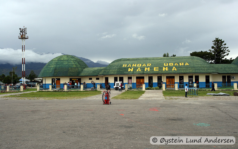 The airport in Wamena, the gateway to Baliem Valley. (2008)