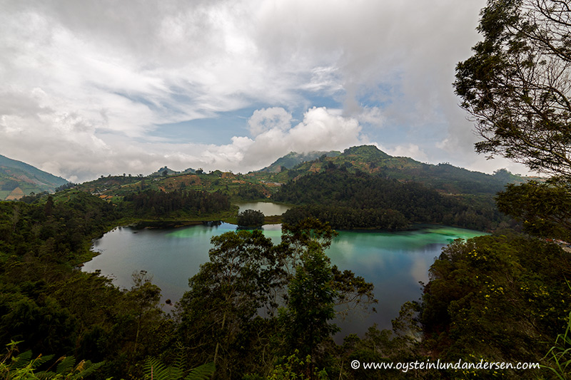 1. The Telaga Warna volcanic lake