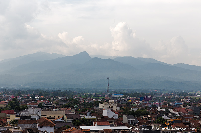 Galunggung seen from the city of Tasikmalaya