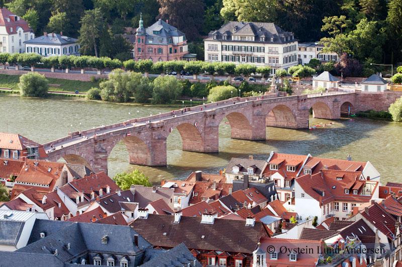 Old bridge, Neckar River.