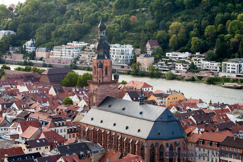 Heidelberg Church of the Holy Spirit in town square.