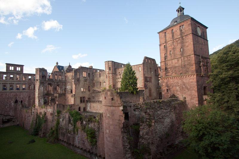 The old Heidelberg Castle.