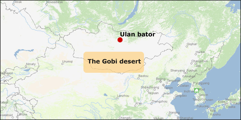 Gobi Desert Mongolia Map