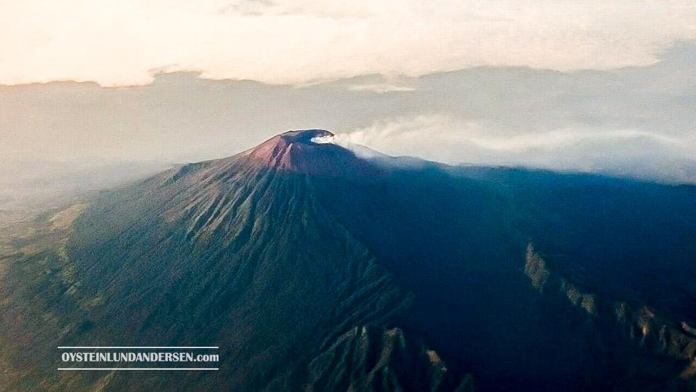 Slamet Volcano Aerial Java Indonesia