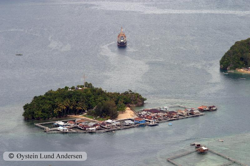 Kayubatu Island inside Jayapura bay.