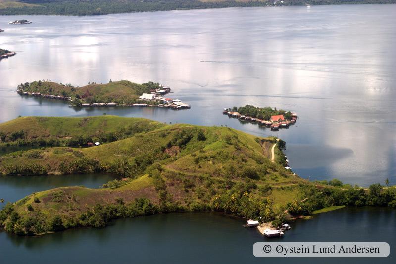 Island on the lake.