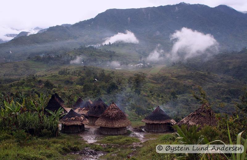 Traditional Mek settlement in Nalca