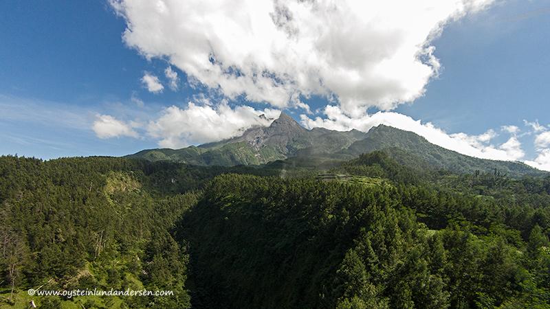 Merapi volcano Indonesia 2013 drone