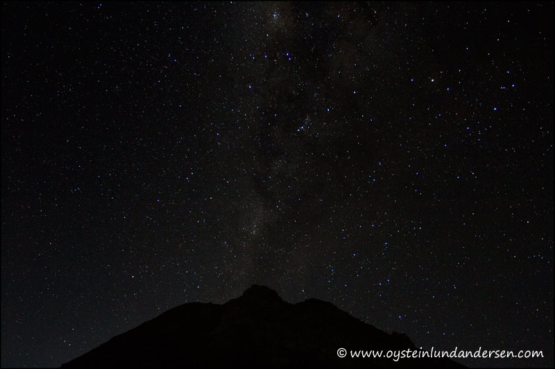 7. A very clear night, on the way up to the crater.