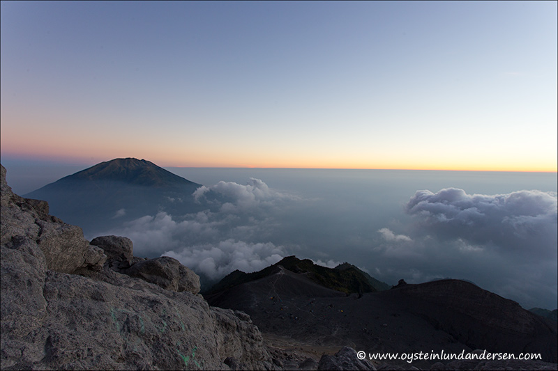 12. View towards the west. Merbabu on the left side.