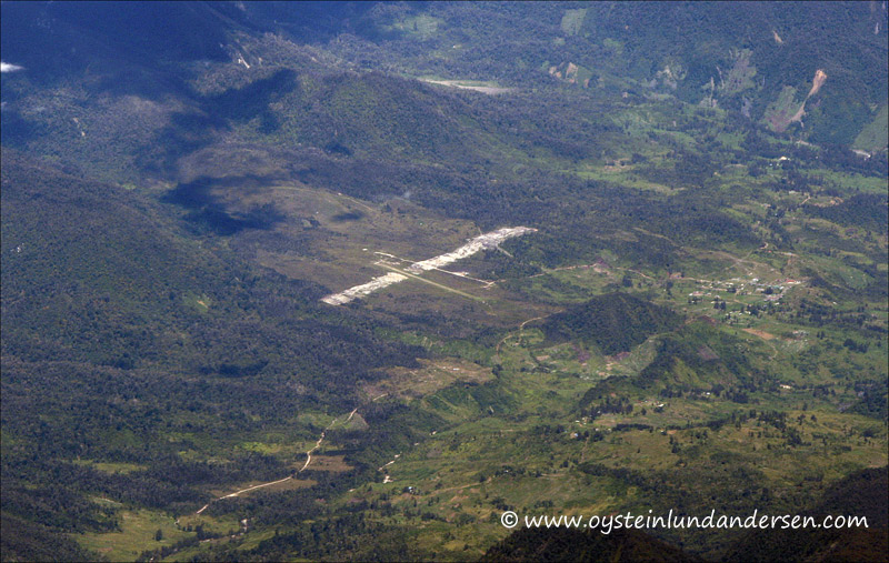 Airstrip north of Puncak jaya, im not sure of which one it is. (August 2010)