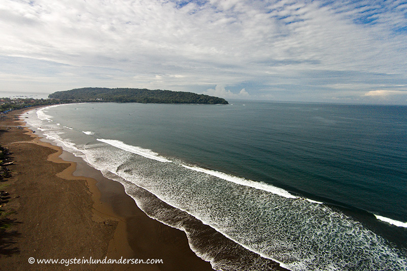 Pangandaran West Java Indonesia beach aerial
