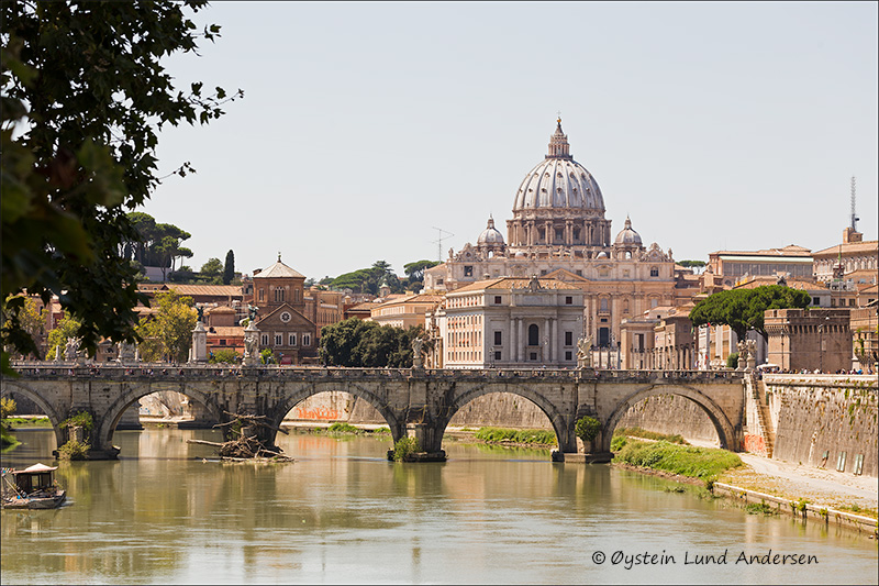 13. St. Peter's seen from the Tiber river.