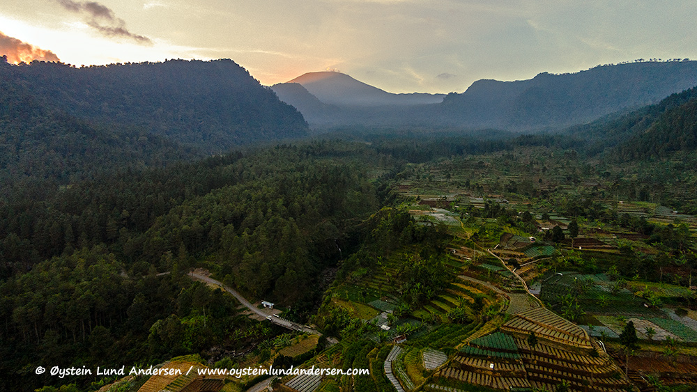 Slamet Volcano seen from the west. (Aerial view from quadcopter)