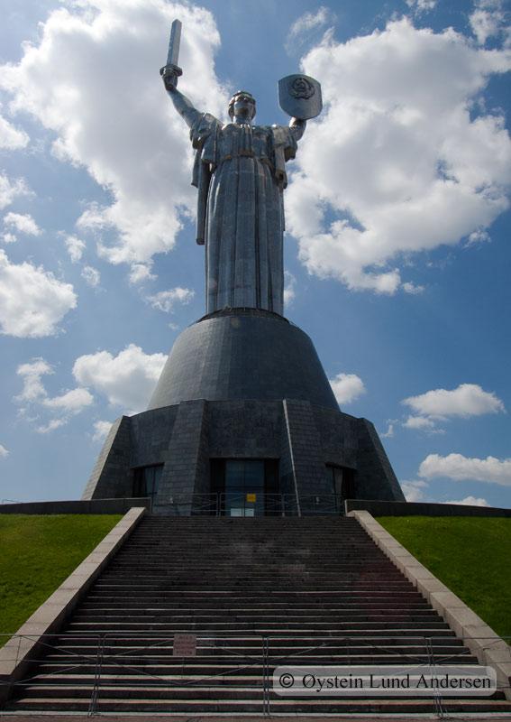 Motherland statue.
