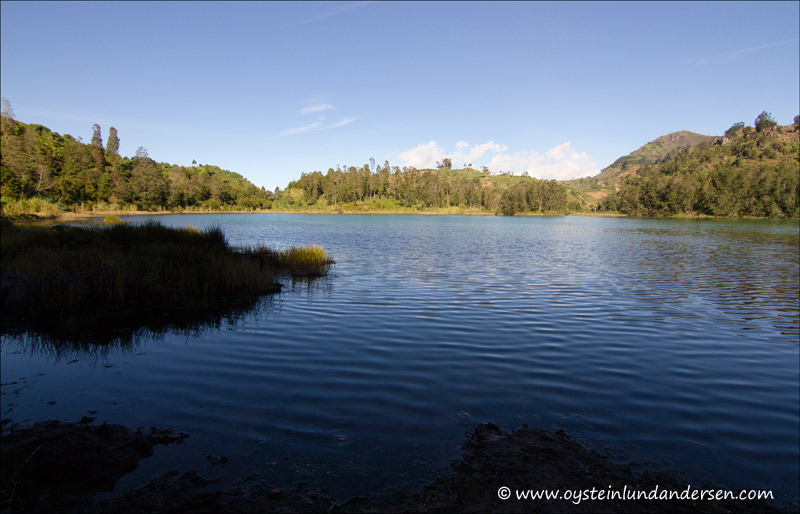The Telaga Warna volcanic lake