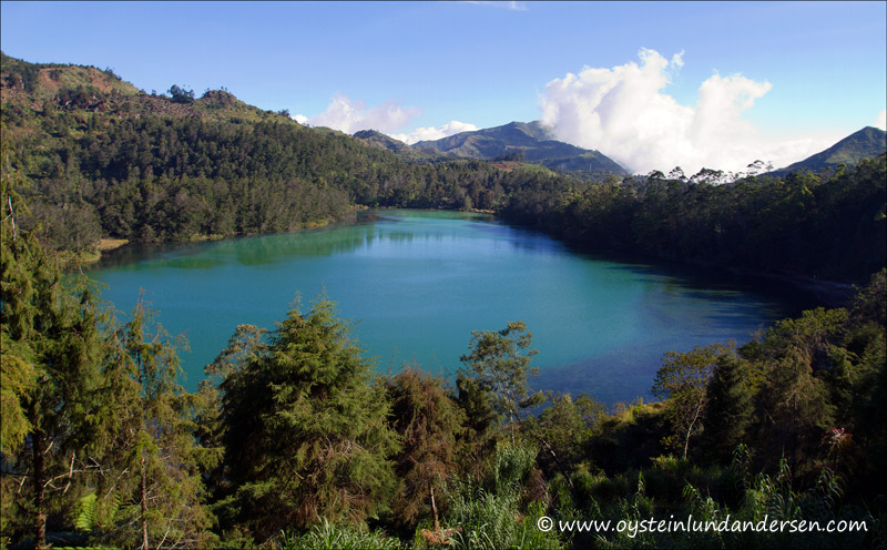 The Telaga Warna volcanic lake