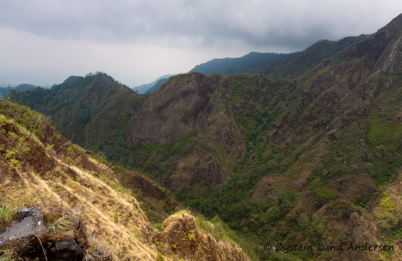 Hills on the flank of Kelud.