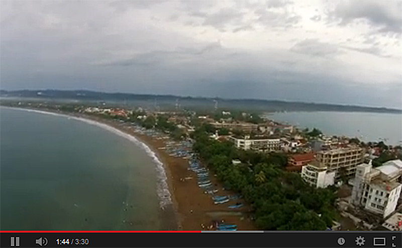 Pangandaran West Java Indonesia beach aerial video