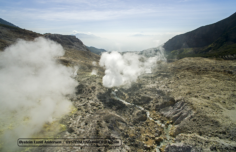 Papandayan volcano Indonesia 2015