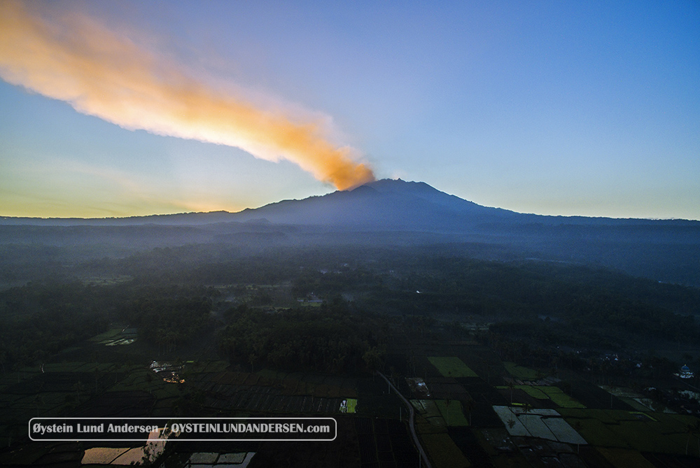 Raung Volcano Indonesia July 2015 Eruption Aerial