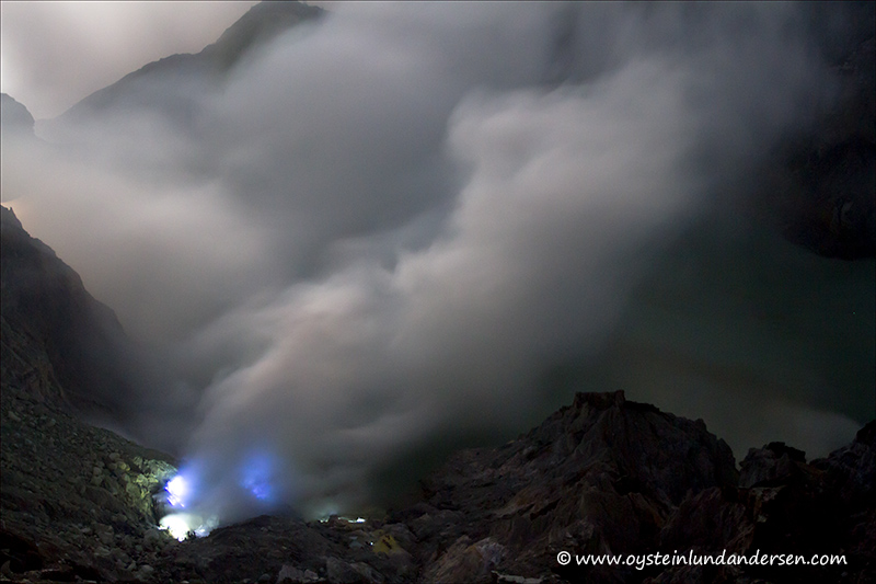 Ijen Volcano Indonesia 2012 East Java Blue Flame