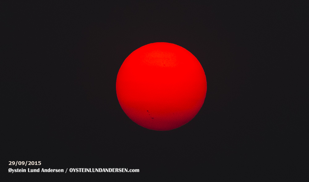 Sun-spot Sun-Flare Sunflare Indonesia September 29 2015 Pelabuhan Ratu West java Sukabumi Indonesia
