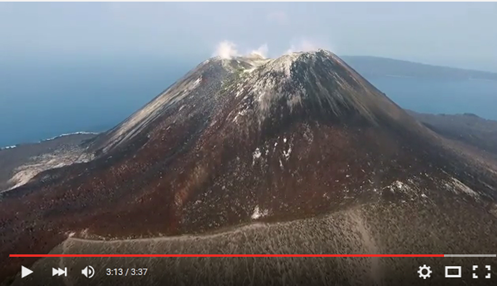 Krakatau aerial video 2015