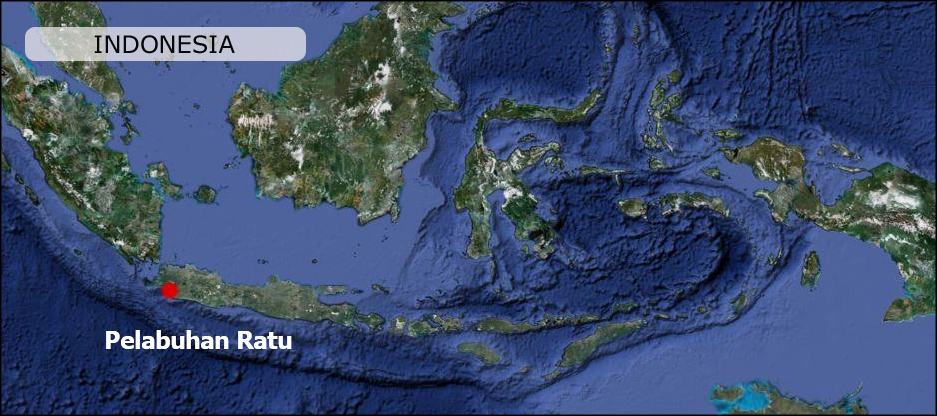 Pelabuhan Ratu West Java Indonesia Map Maps Peta