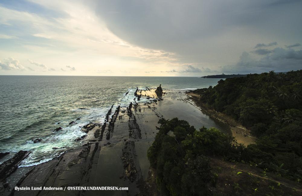 Sawarna Beach 2016 West Java Sukabumi Indonesia Pantai Sawarna Indonesia Aerial Tanjung Layar