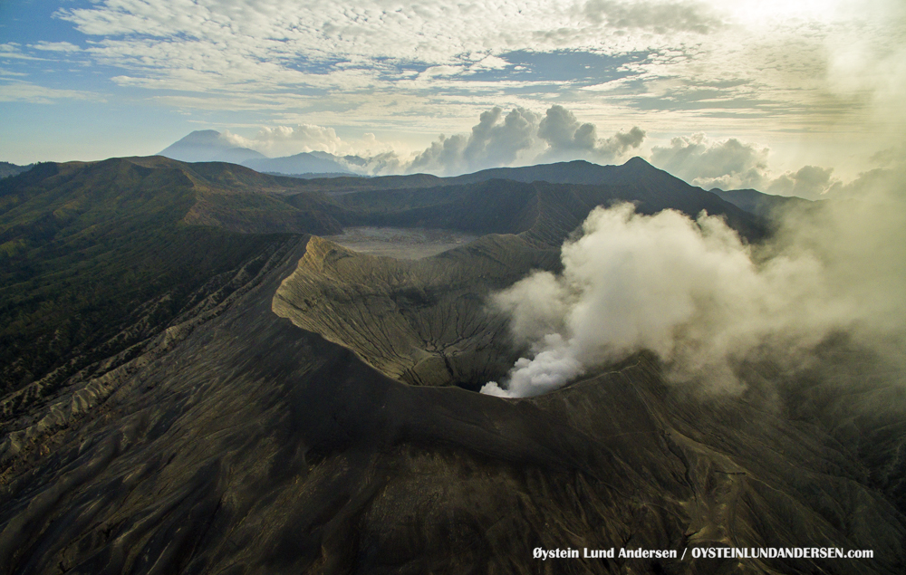 Aerial Bromo Volcano November-2015 Indonesia