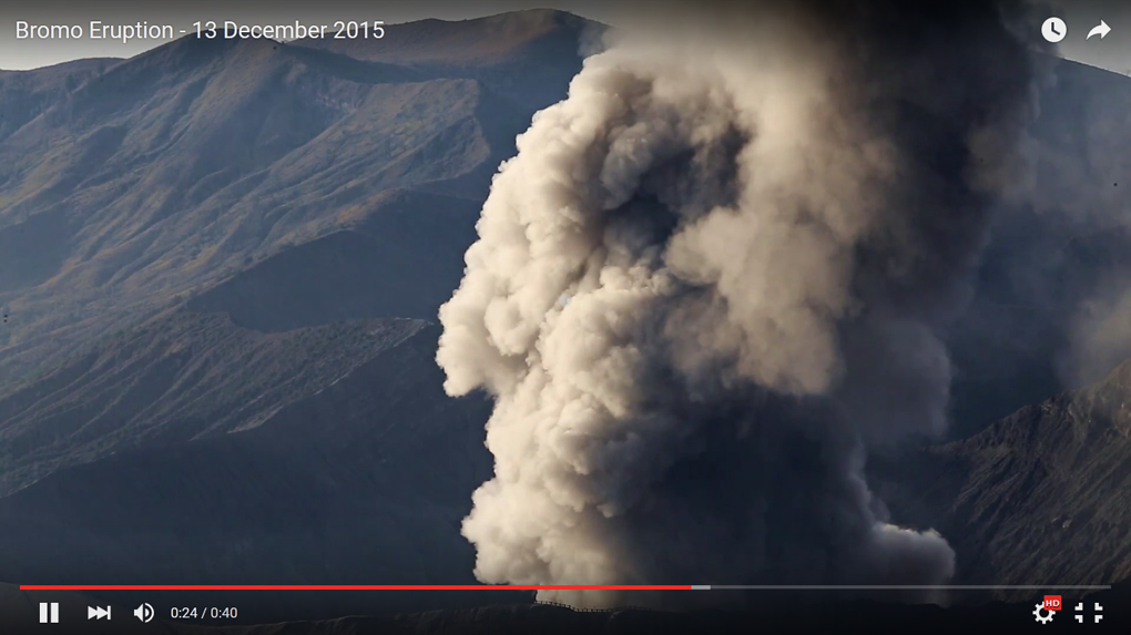 Bromo Eruption 2015 video