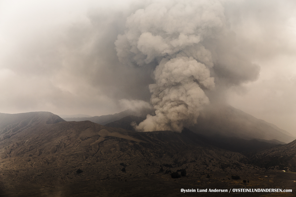 Bromo Eruption 2015 Indonesia Java ash-plume