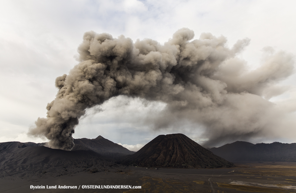 Bromo Eruption 2015 Indonesia ash lava