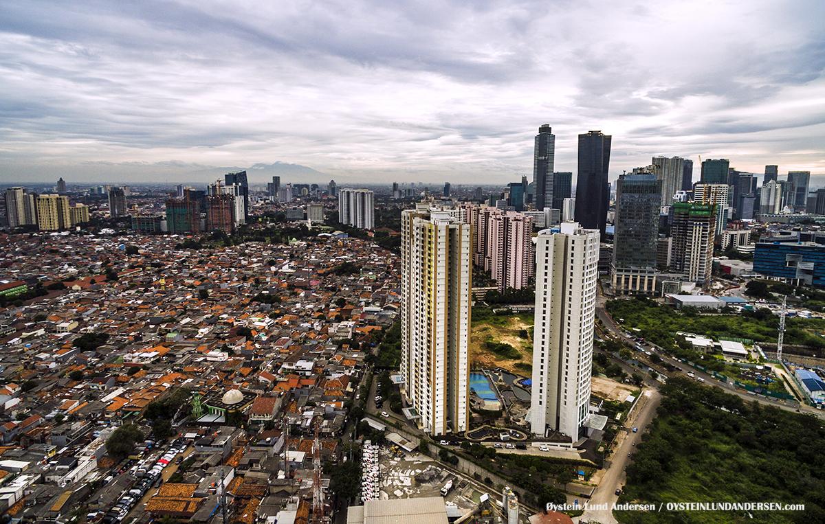 Aerial Rasuna Raid Bakrie Jakarta Indonesia