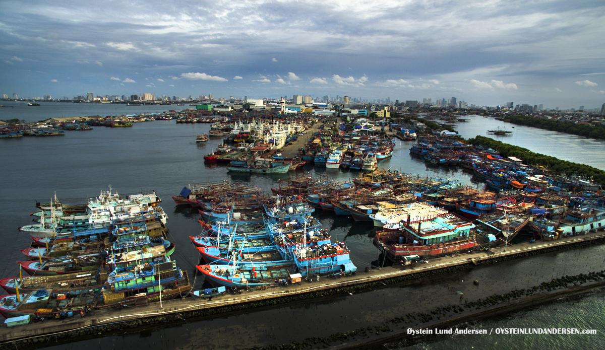 Muara Baru Jakarta harbour pelabuhan muara baru DJI Phantom Indonesia 2016 boat kapal