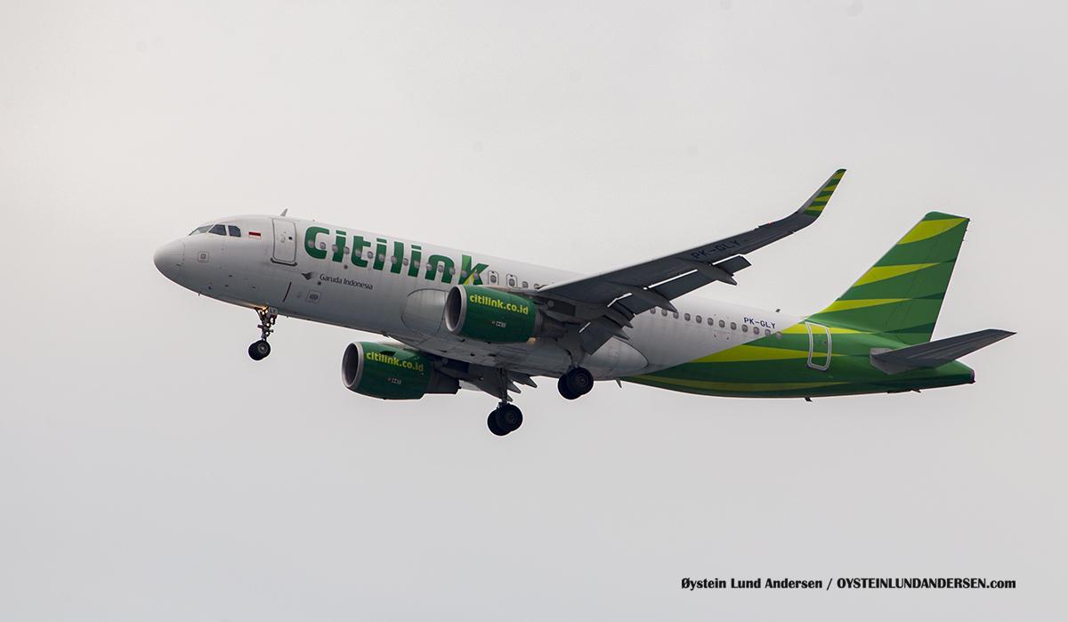 Citilink PK-GLY Airbus 320-200 Jakarta Airport Sukarno Hatta