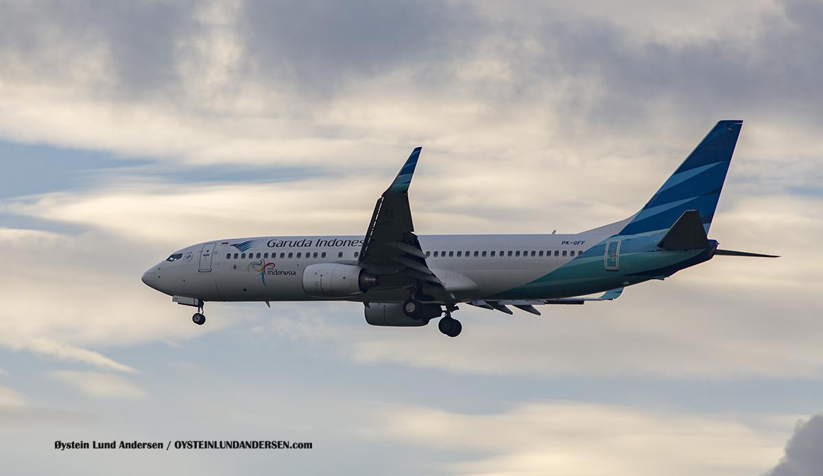 Garuda Indonesia (PK-GFF) Boeing 737-800 Jakarta Airport Sukarno Hatta