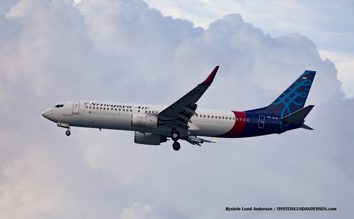 Sriwijaja Air PK-CLS Boeing 737-800 Jakarta Airport Sukarno Hatta