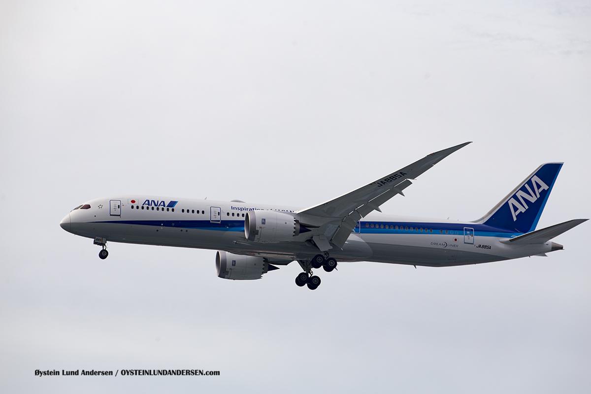 ANA JA885A Boeing 787-9 Jakarta Airport Sukarno Hatta