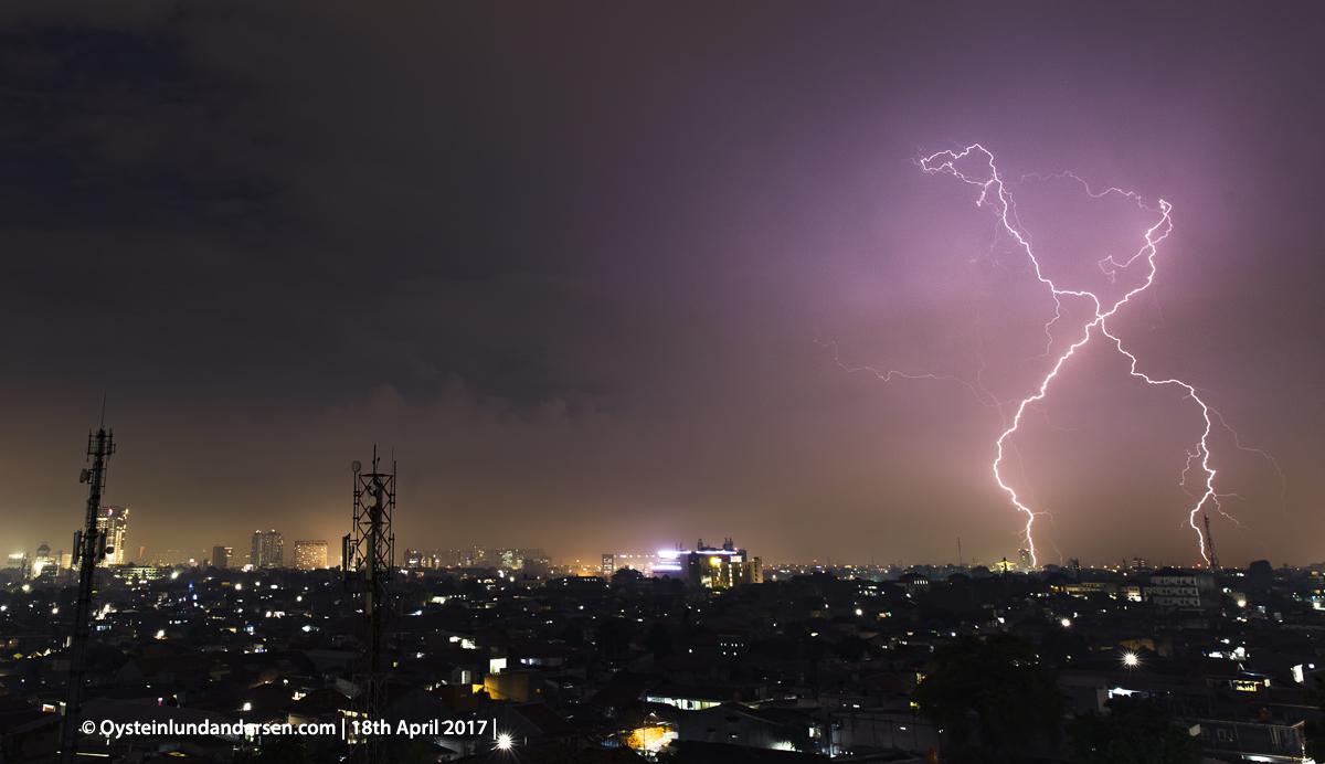 Jakarta 2017 lightning thunderstorm