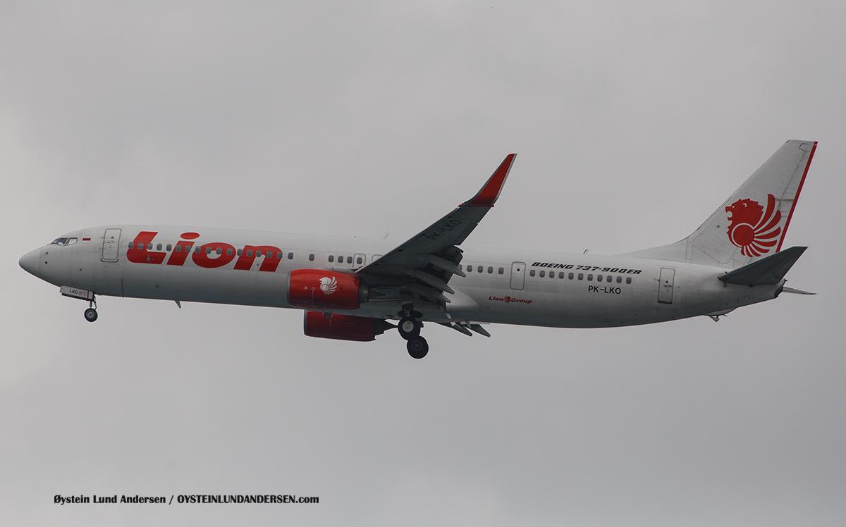 Lionair - Boeing 737-900ER (PK-LKO) Jakarta Indonesia