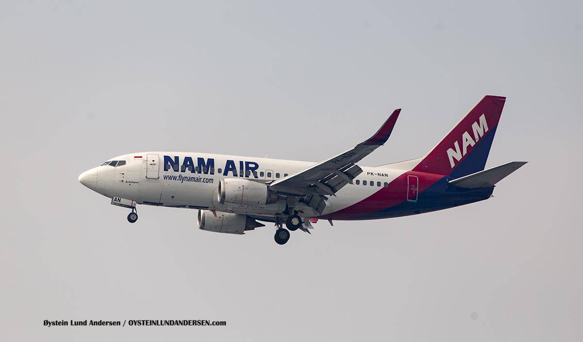 "Nam Air Boeing 737-500 named ""Kehidupan"" (Life) (PK-NAN)"
