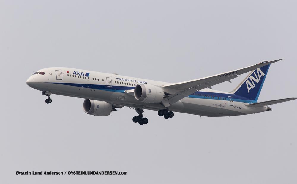 ANA Boeing 787 Dreamliner Arriving from Tokyo (6 December 2015)