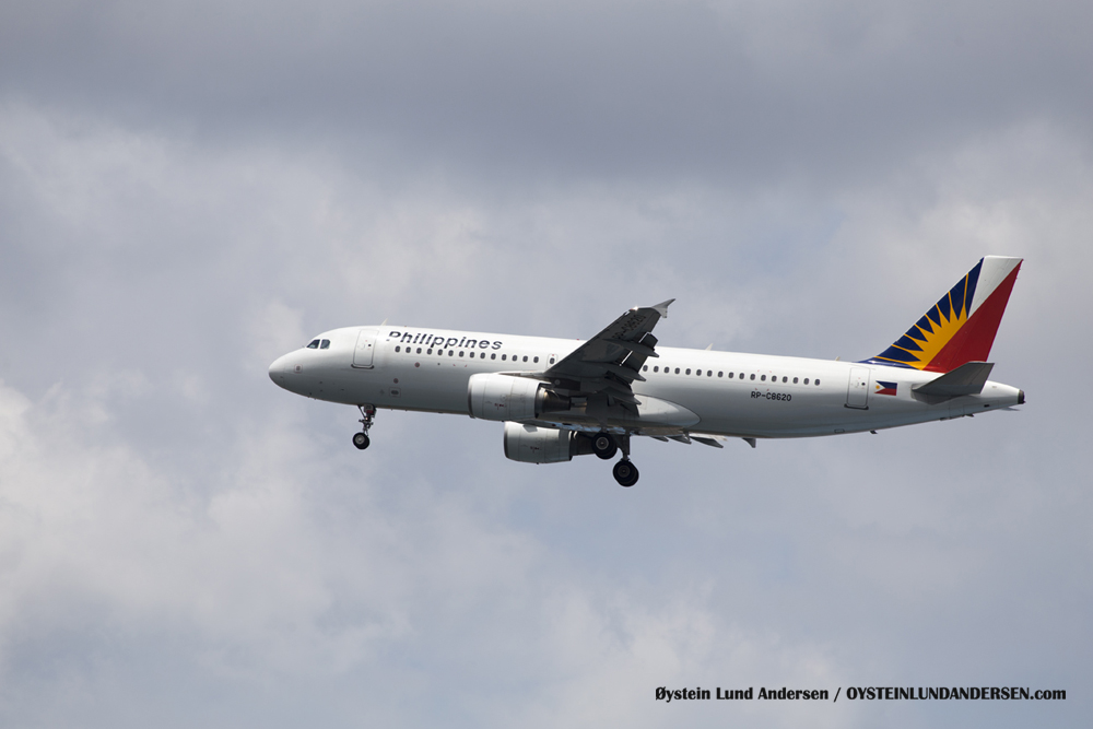 Airbus 320 arriving from Manila (23 December 2015)
