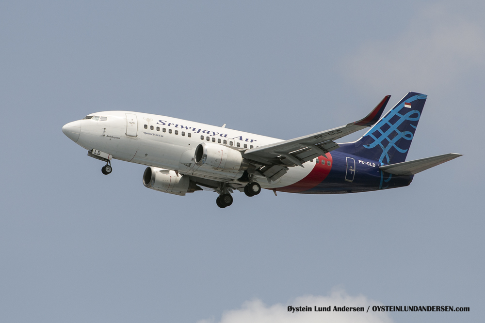 Sriwijaya Boeing 737-700 with winglets. (29 December 2015)