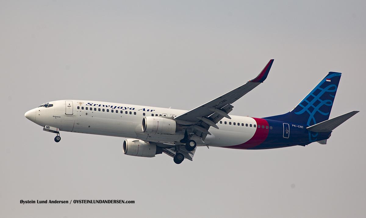 "Jakarta Airport Sukarno Hatta (CGK) Sriwijaya Air 737-800 (PK-CMI) named ""Kebenaran"" (Truth)"