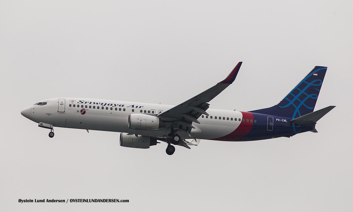 Jakarta Indonesia Sriwijaya - Boeing 737-800 (PK-CML, named Gaharu)