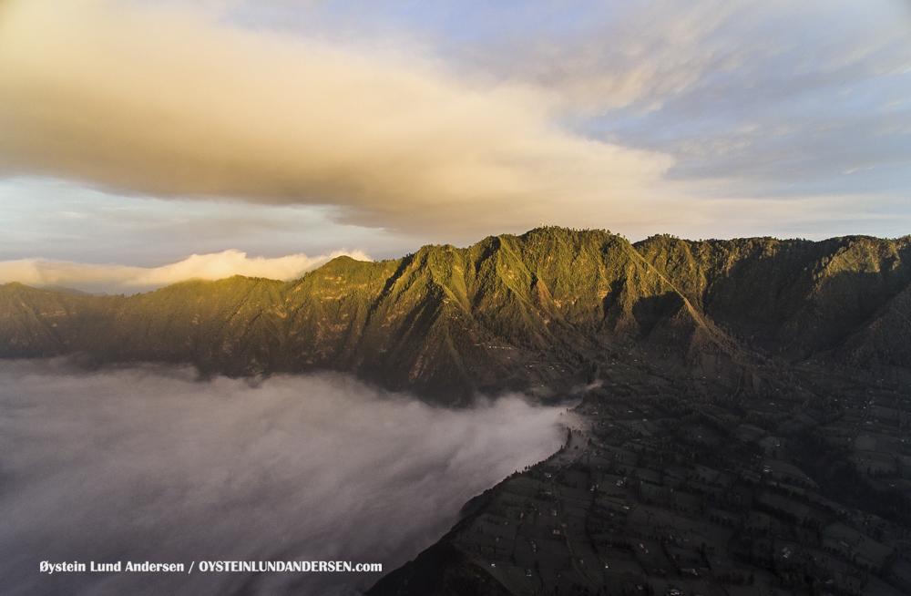Aerial Bromo Volcano Tengger Eruption 2016